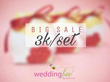Big Sale - Chỉ 3k/set, Tặng 50% phí thank tag - Hộp quà cưới - Wedding Bee - Hình 1
