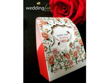 Hộp quà cưới lazer hoa đỏ - Hộp quà cưới - Wedding Bee - Hình 5