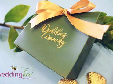Hộp quà cưới lazer hoa đỏ - Hộp quà cưới - Wedding Bee - Hình 2