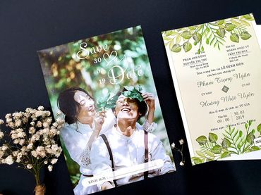 Thiệp cưới in hình nhà Pen - Thiệp cưới nhà Pen - Hình 1