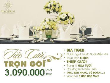 Ưu đãi tiệc cưới trọn gói - Nhà hàng tiệc cưới Bạch Kim - Hình 1