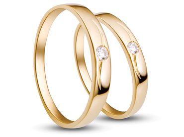 Nhẫn cưới PNJ Chung đôi vàng 18K đính đá ECZ - Vàng bạc đá quý Phú Nhuận - PNJ - Hình 2