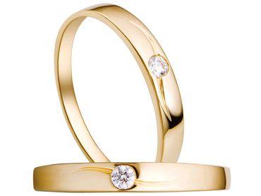 Nhẫn cưới PNJ Chung đôi vàng 18K đính đá ECZ - Vàng bạc đá quý Phú Nhuận - PNJ - Hình 1