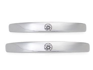 Bộ nhẫn cưới PNJ chung đôi vàng trắng 14K đính kim cương - Vàng bạc đá quý Phú Nhuận - PNJ - Hình 7