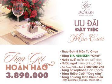 Trọn gói tiệc cưới hoàn hảo - Nhà hàng tiệc cưới Bạch Kim - Hình 1