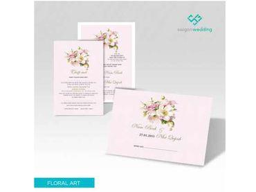 Thiệp cưới Floral Art 06 - Saigon Wedding - Thiệp cưới - Hình 1