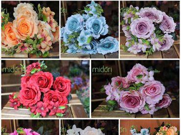 Hoa vải cao cấp - Midori Shop - Phụ kiện trang trí ngành cưới - Hình 169
