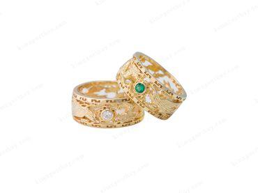 Nhẫn cưới Rồng Phụng - Nhẫn Cưới Kim Ngọc Thủy - Hình 7