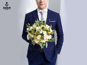 Vest cưới xanh kẻ chỉ tím - Adam Store - Hình 4