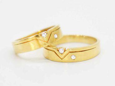 Nhẫn cưới RNC26 - Anh Phương Jewelry - Hình 2