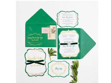Thiệp cưới xanh ngát- Xu hướng 2018 - Lubi Wedding Paper - Hình 2