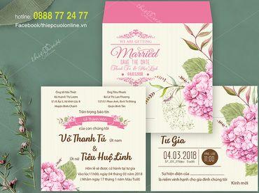 Thiệp cưới hoa lá cành - Thiệp Cưới Online - Hình 1