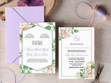 Thiệp cưới hoa lá cành - Thiệp Cưới Online - Hình 2