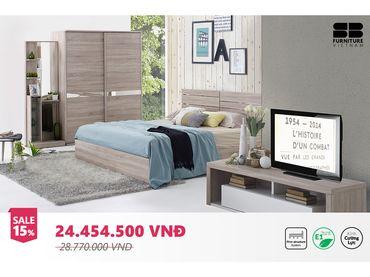 Bộ phòng ngủ Meudon - SB Furniture - Hình 1