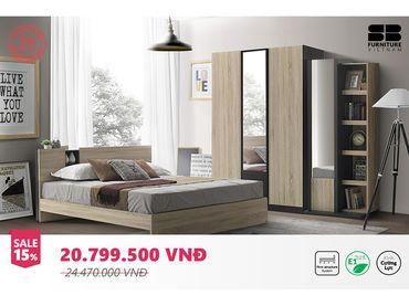 Bộ phòng ngủ Patinal & Tyler - SB Furniture - Hình 1