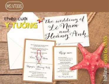 Thiệp cưới Ý Tưởng - Mã thiệp VT006 - Dịch vụ cưới Marry - Hình 1