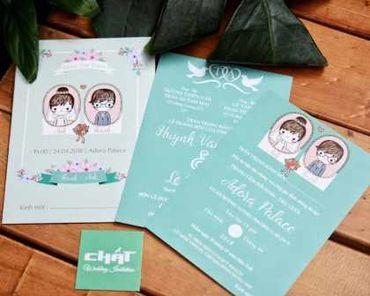 Thiệp cưới Chibi - Thiệp cưới Chất - Hình 1
