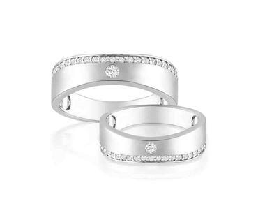 Nhẫn cưới vàng Alluring Princess - PRECITA - Hình 4