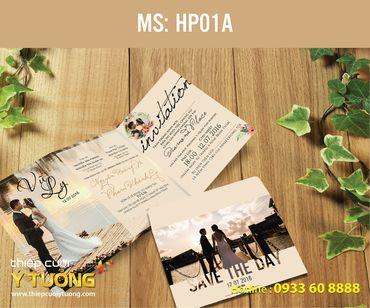 Thiệp cưới in hình - Thiệp Cưới Ý Tưởng - Hình 35