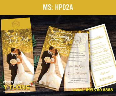 Thiệp cưới in hình - Thiệp Cưới Ý Tưởng - Hình 57