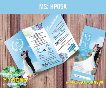 Thiệp cưới in hình - Thiệp Cưới Ý Tưởng - Hình 90