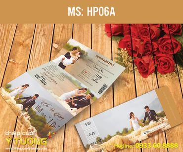 Thiệp cưới in hình - Thiệp Cưới Ý Tưởng - Hình 12