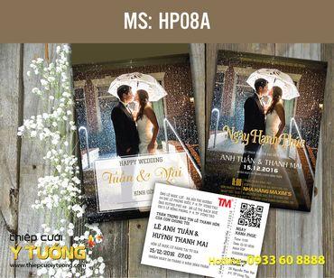 Thiệp cưới in hình - Thiệp Cưới Ý Tưởng - Hình 135