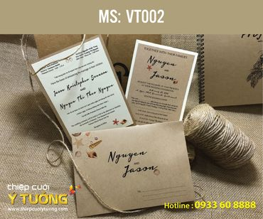 Thiệp cưới Vintage - Thiệp Cưới Ý Tưởng - Hình 68