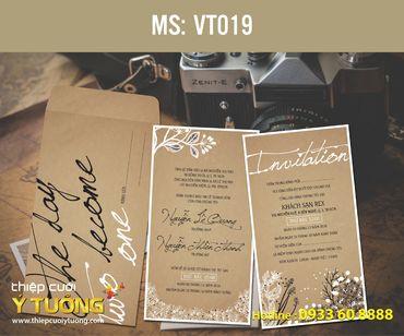 Thiệp cưới Vintage - Thiệp Cưới Ý Tưởng - Hình 46