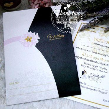 Thiệp hoạ tiết in hoa - Thiệp cưới Thanh Trúc - Thiệp Cưới Thiên Ân - Hình 1