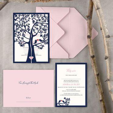 Thiệp Lazer - Peonies - Thiệp cưới Thiết kế - Hình 1
