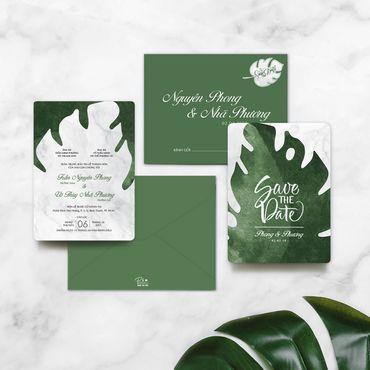 Green & Marble - Thiệp cưới nhà Pin - Hình 1