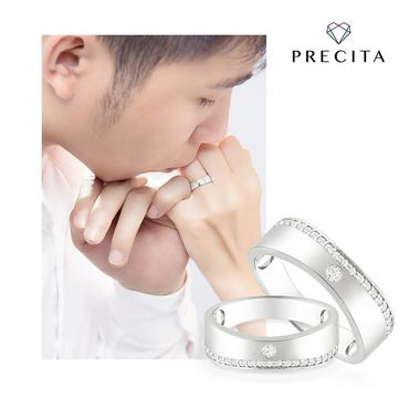 Nhẫn cưới vàng Alluring Princess - PRECITA - Hình 3