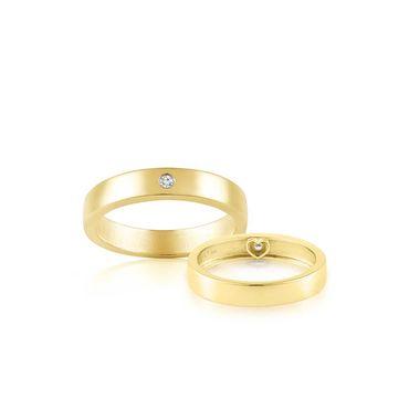 Nhẫn cưới vàng Flat Amor - PRECITA - Hình 3