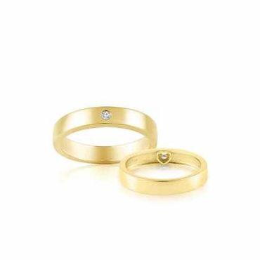 Nhẫn cưới vàng Flat Amor - PRECITA - Hình 1