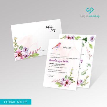 Dòng thiệp Floral 02 - P1 - Saigon Wedding - Thiệp cưới - Hình 1