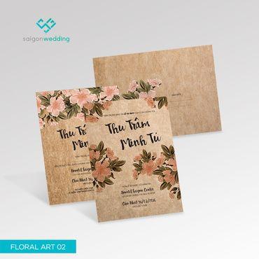 Thiệp cưới Floral Art 02 -18 - Saigon Wedding - Thiệp cưới - Hình 1