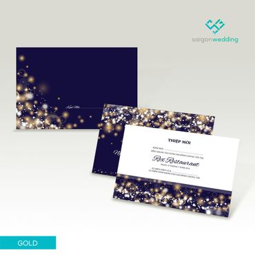 Thiệp cưới dòng Gold PG01-001 - Saigon Wedding - Thiệp cưới - Hình 1