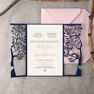 Thiệp Lazer - Peonies - Thiệp cưới Thiết kế - Hình 2