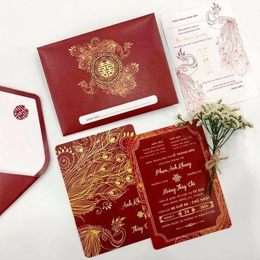 Khổng tước Uyên Ương - Thiệp cưới nhà Pen - Hình 4