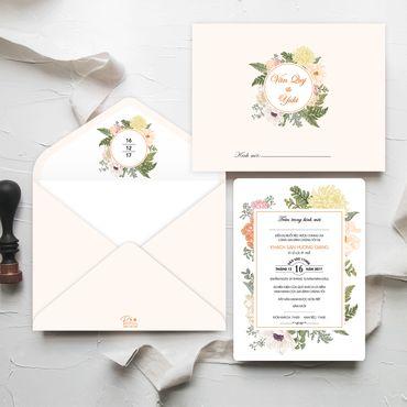 Thiệp cưới hoa - Thiệp cưới nhà Pin - Hình 4