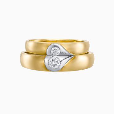 Nhẫn cưới Falling In Love - W2B.W173R - Công ty Cổ phần Vàng Bạc Đá Quý Lộc Phúc - Hình 4