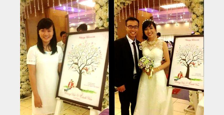 Tranh vân tay cưới MiHi - Hà Nội - Hình 2