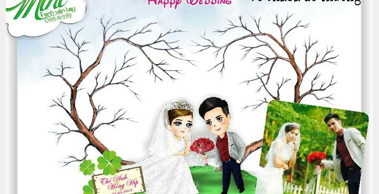 Tranh vân tay cưới MiHi - Hà Nội - Hình 1