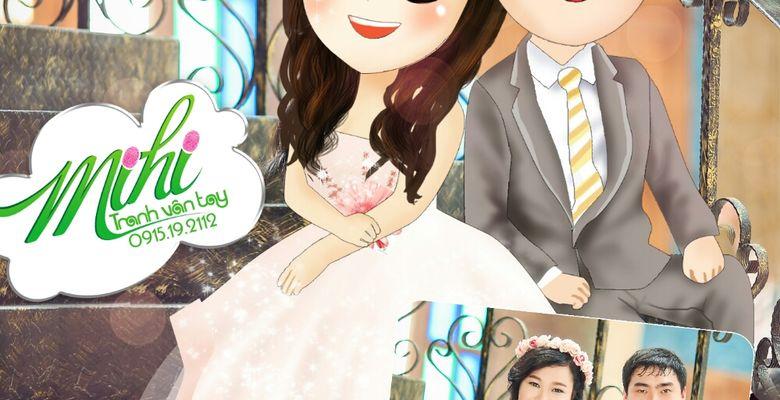 Tranh vân tay cưới MiHi - Hà Nội - Hình 9