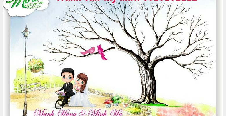 Tranh vân tay cưới MiHi - Hà Nội - Hình 5