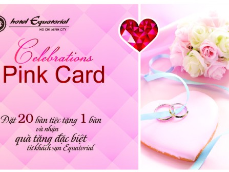 Celebrations Pink Card