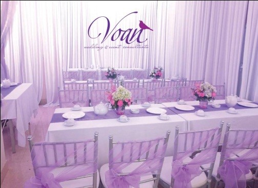 Purple Transparent Wedding Concept.