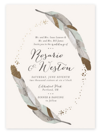 gold-dipped-feathers-wedding-invitation