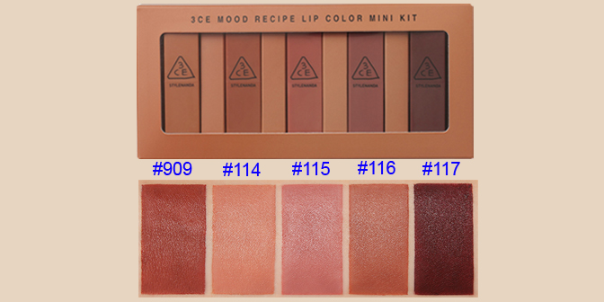 son môi hàn quốc 3CE mood recipe lip color 2